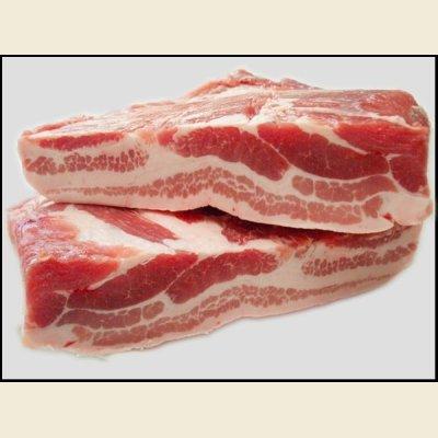 画像1: 輸入 豚バラ ブロック 1枚(約4.82kg)