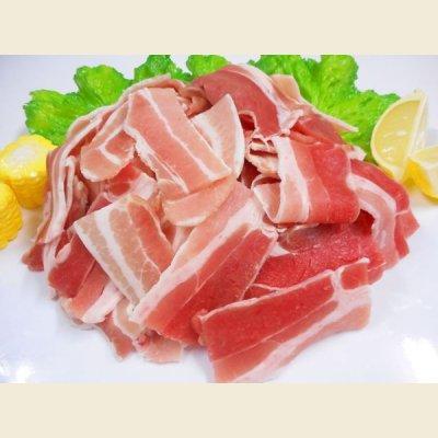 画像1: 輸入 豚バラ 切りおとし 1kg