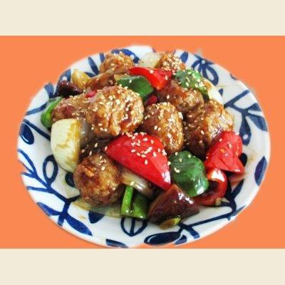 画像3: ふっくら肉団子 1.2kg(1個約40g×30個入り)甘酢タレ・白ゴマ付き