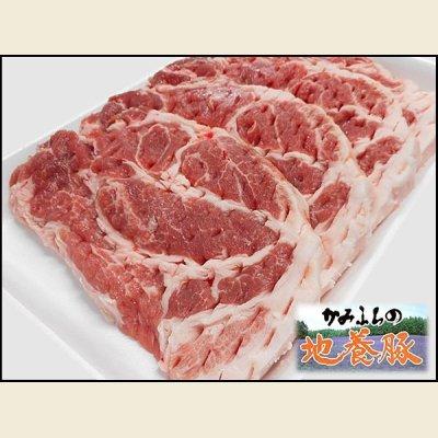 画像1: 北海道上富良野町産 かみふらの地養豚 肩ロース カツ用 600g(1枚120g×5枚)