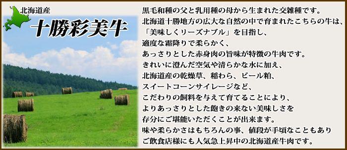 北海道産 十勝彩美牛